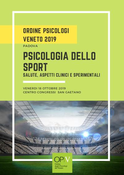 """Gli specialisti del Gvdr al congresso """"Psicologia dello Sport. Salute, aspetti clinici e sperimentali"""""""