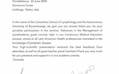Ringraziamento al dottor Domenico Corda
